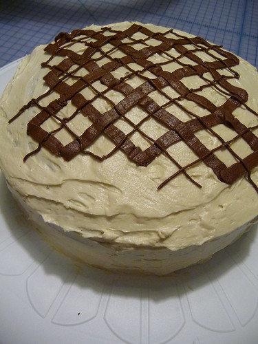Chuck's Improvised Argyle Cake