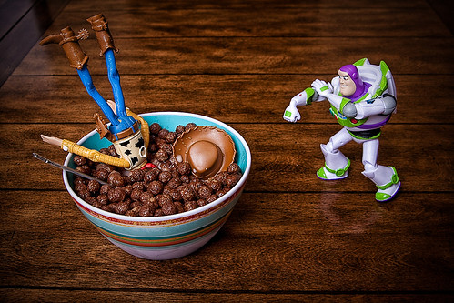 """Mission Control .... it appears Woody has gone Cuckoo for Cocoa Puffs!"" - Buzz"