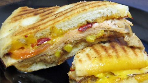 Southwestern turkey panini by Coyoty