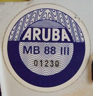 ARUBA 1988 ---THIRD QUARTER STICKER used (JUL-SEP 1988) PLATE #A-10047 pic 2