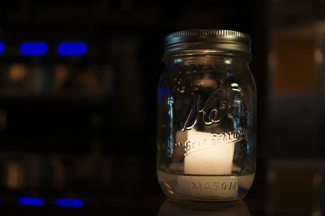 candle at the bar
