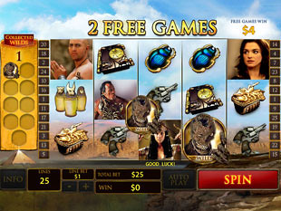 free The Mummy slot free spins prize