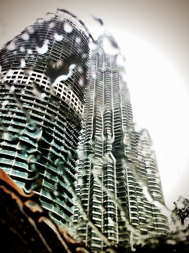 KLCC in the rain