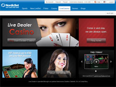 NordicBet Live Casino Lobby