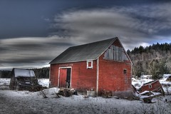 Abandoned Barn & House, Waterbury, Vermont