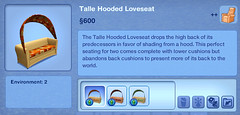 Talle Hooded Loveseat
