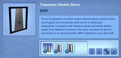 Trapezium Double Doors
