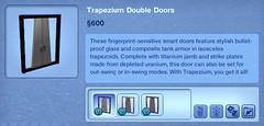 Trapezium Double Doors