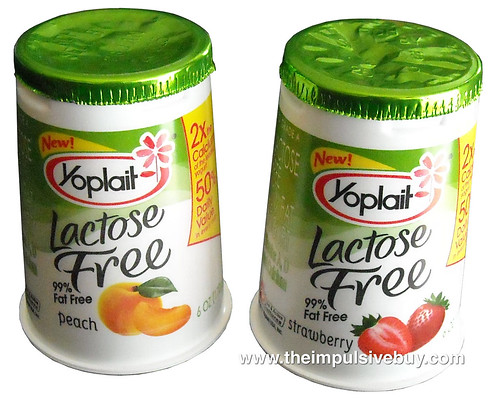 Review Yoplait Lactose Free 99 Fat Free Yogurt Peach And