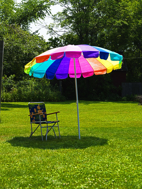 Umbrella and Beach Chair