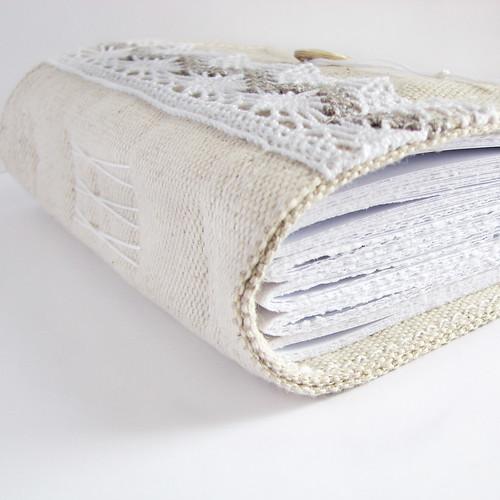 handmade journal, lacy