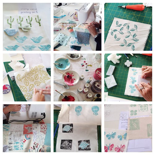 Stamp Carving and Freeform Patchwork at Treehouse Textiles