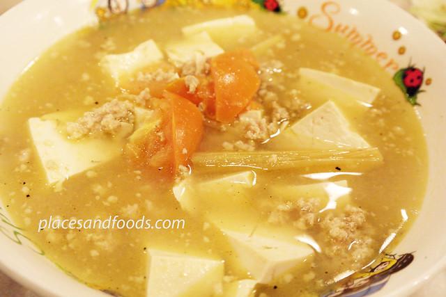 nyonya taste salted mustard cabbage soup