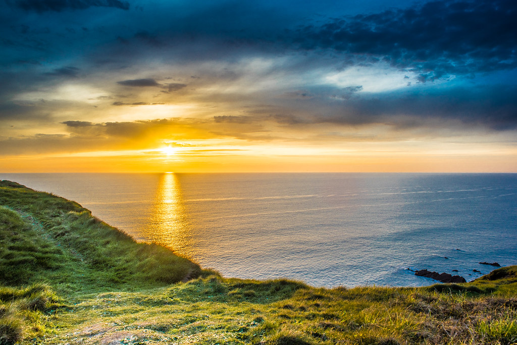 Sunset in Bude, Cornwall, United Kingdom picture