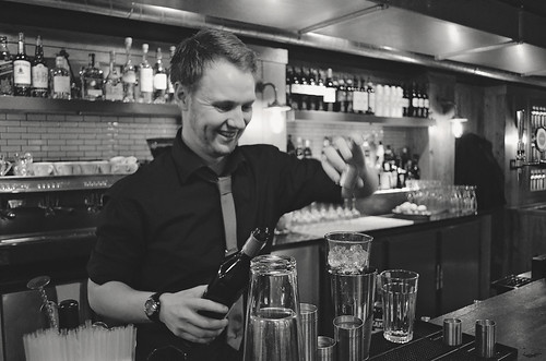Bartender at Jamie's Kitchen, Glasgow