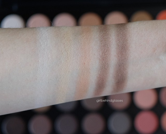 Morphe 35O palette Column 1 swatches