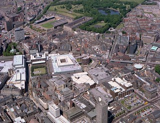 Newcastle City Centre from above, 1978