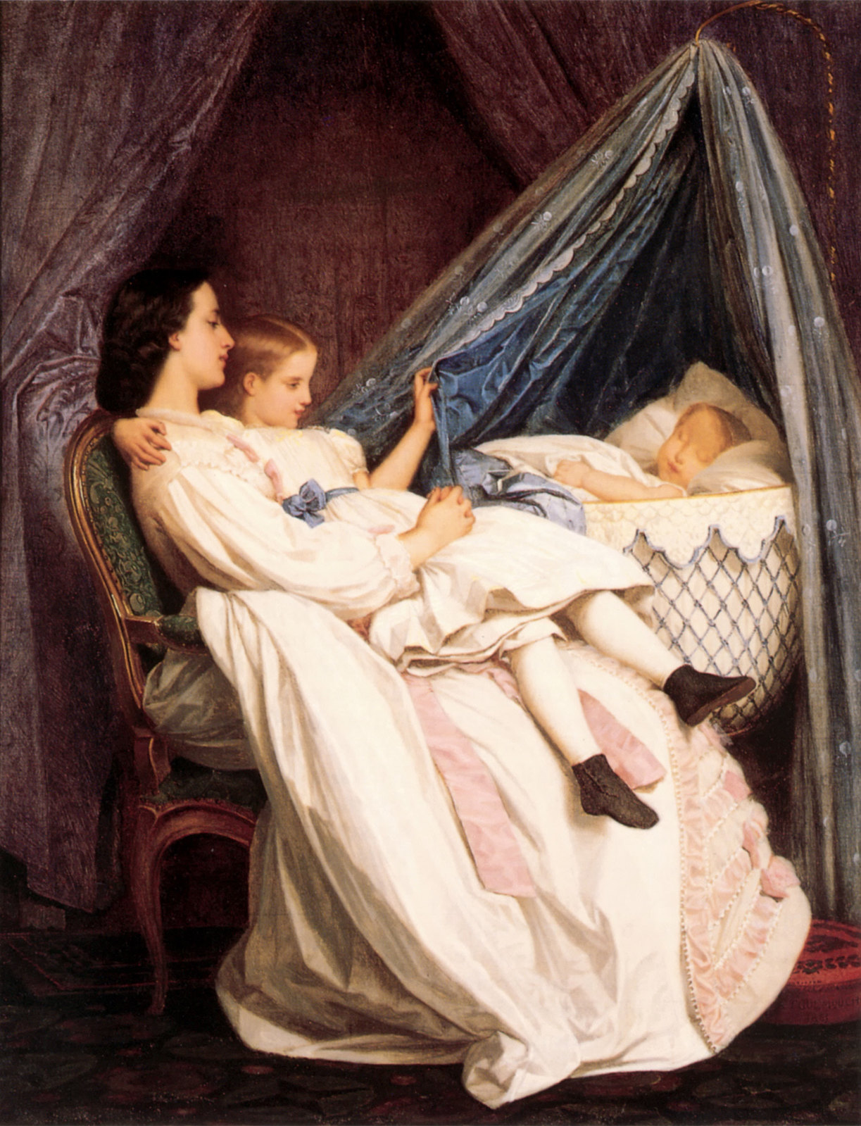 The New Arrival by Auguste Toulmouche, 1861