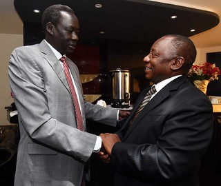 Deputy President Cyril Ramaphosa visits South Sudan, 16 May 2016