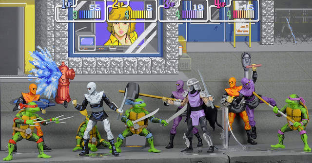 SDCC 限定!NECA 大型電玩版「忍者龜」&「腳族忍者」組合包 TMNT Arcade Turtles and Foot Clan Box Sets