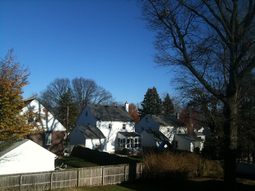 Cool, sunny suburban NJ Thanksgiving afternoon