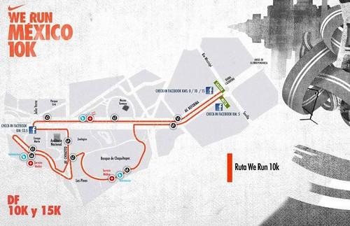 Ruta Nike We Run Mexico DF 10K