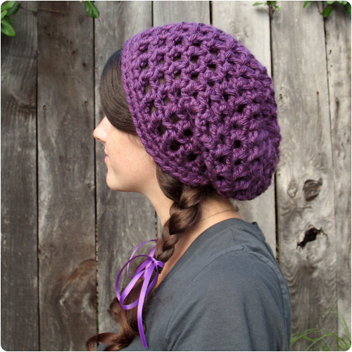 Easy Crochet Slouchy Hat Patterns : Free Crochet Pattern: Waffle Cone Slouchy Hat Flickr ...