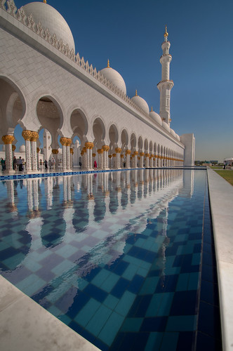 Reflection of Sheik Zayed Grand Mosque