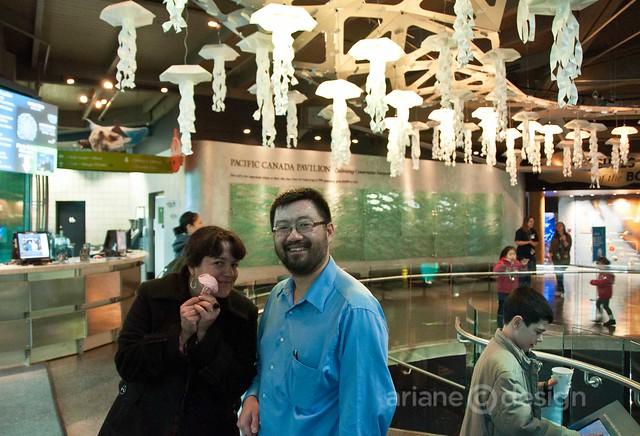 Me and Joseph Wu, origami artist
