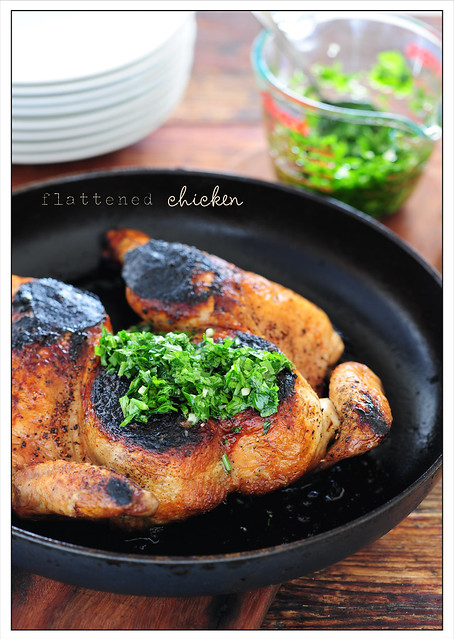 flattened chicken with parsley sauce2