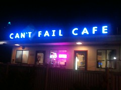Can't Fail Cafe, Emeryville, CA, 9:30 pm