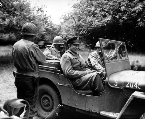 General Eisenhower in a Jeep 4x4 by lee.ekstrom