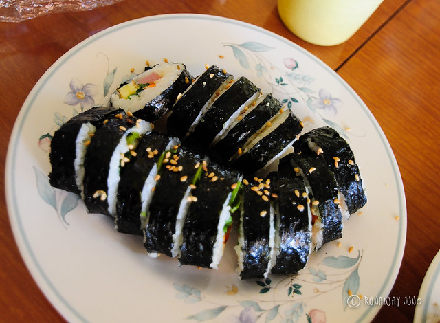 Gimbab ready to serve Korean Food