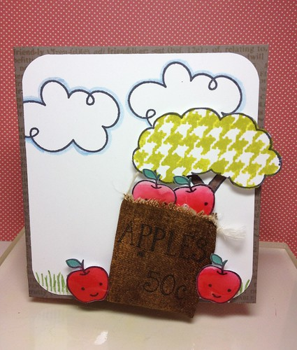 Apple tree + sack card