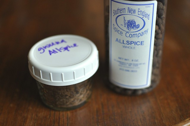 allspice in the pantry
