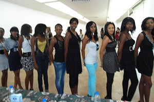 "Contestants gather for the Miss Harare Beauty Pageant in the Southern African nation of Zimbabwe. The theme for this year is: ""I am Zimbabwean."" by Pan-African News Wire File Photos"