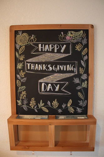 Happy Thanksgiving chalkboard
