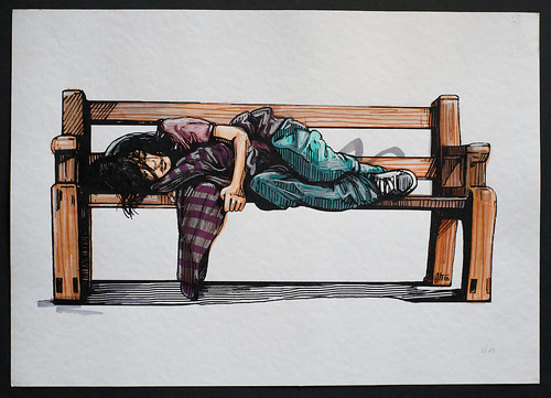 Alice Pasquini - 'Bench Girl' 2/20