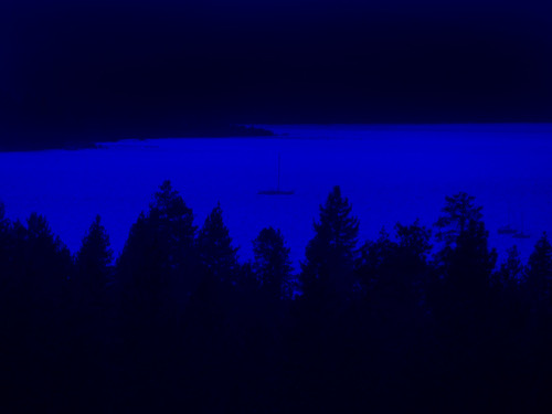 california blue lake water sailboat laketahoe monotone evergreens minimalism jackaloha2 photoshopcs5