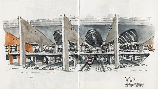 Sevilla, railway station