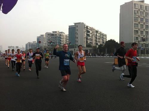 Marc during the Shanghai Marathon
