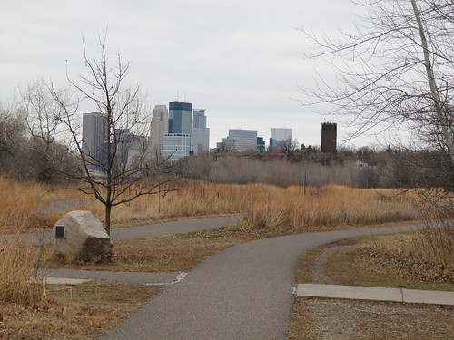 Minneapolis Skyline from Cedar Lake Trail