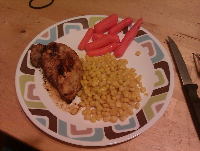 Spicy garlic lime chicken, corn and carrots. Sunday night …   Flickr ...