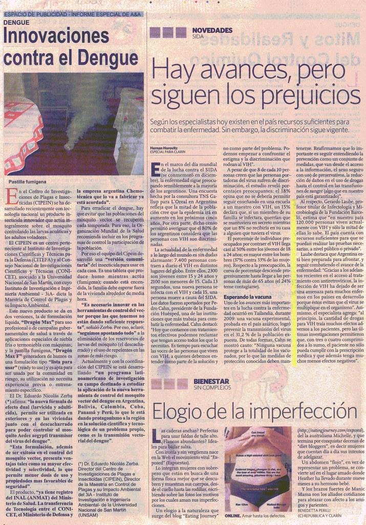 Diario Clar°n 18-12-09