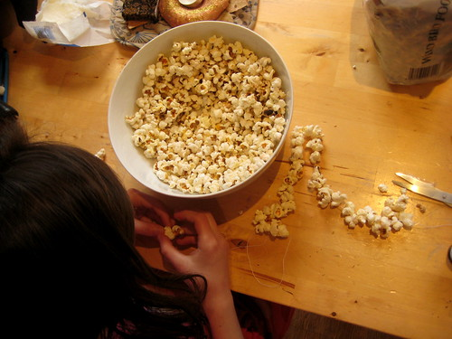 how to make a bird feeder popcorn