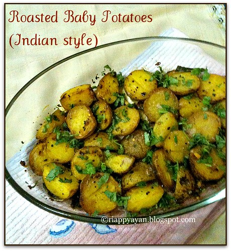 Oven roasted baby potatoes in indian style recipe recipes oven roasted baby potatoes in indian style forumfinder Gallery