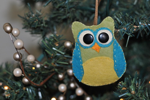 Owl Ornament from Toni (swap)