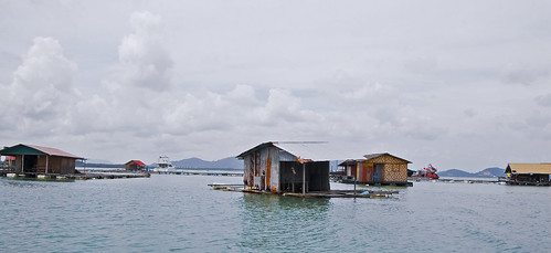 Floating fishermens huts off the coast of Phuket