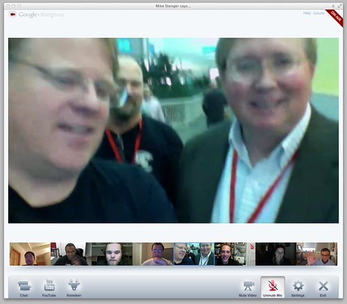 Robert Scoble Testing out G+ Hangouts Live On Air by stevegarfield