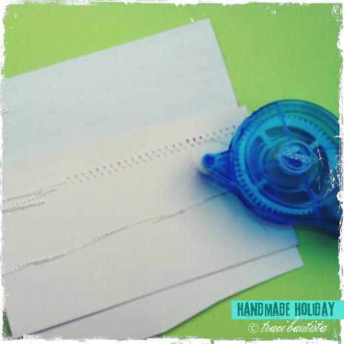 apply roller adhesive to attach to textured cardstock